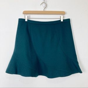 J Crew wool mini skirt high waist circle skater
